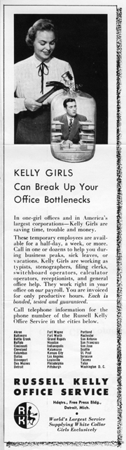 Kelly Girl Bottleneck Ad