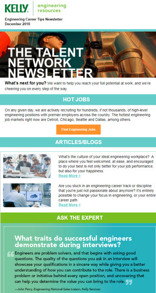 Engineering Talent Network Newsletter Preview